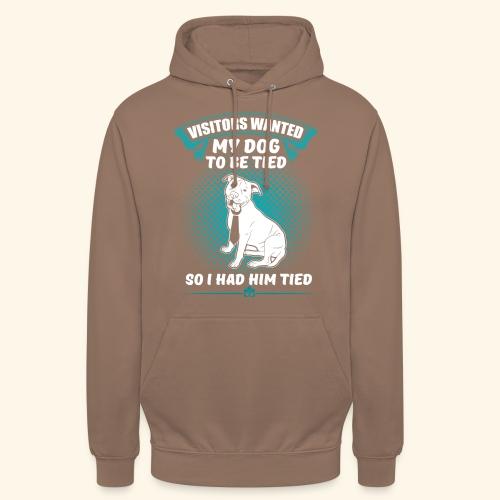 Lustiges Hunde Schlips T-Shirt - Unisex Hoodie