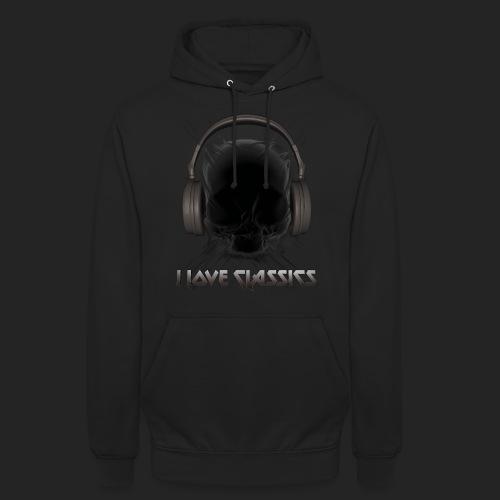 I love classics Black - Sweat-shirt à capuche unisexe