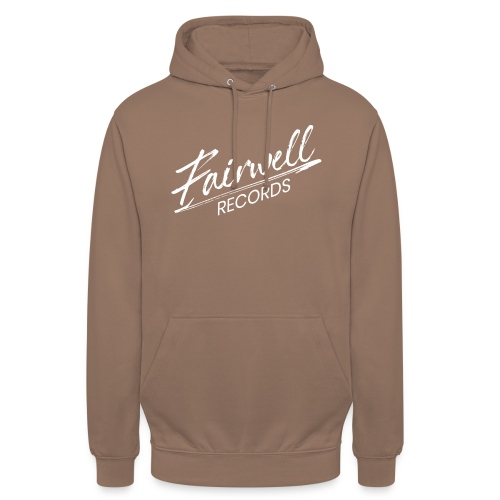 Fairwell Records - White Collection - Hættetrøje unisex