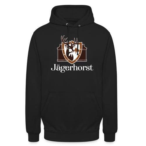 Jägerhorst Logo Weiss - Unisex Hoodie