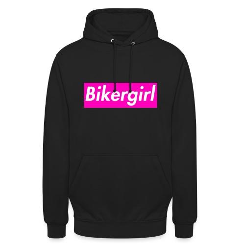 Bikergirl - Felpa con cappuccio unisex