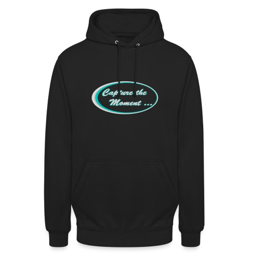 Logo capture the moment photography slogan - Unisex Hoodie