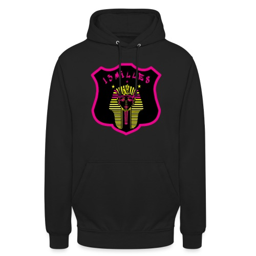 Pharaon Noir, Rose, Jaune hyper design - Sweat-shirt à capuche unisexe