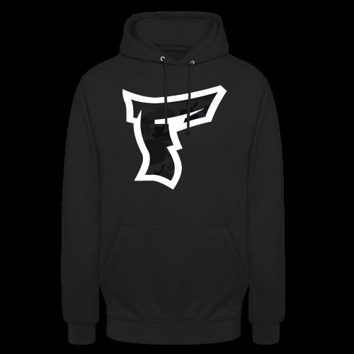 Tarnmuster mit F Logo in Weiß - Unisex Hoodie