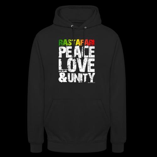 RASTAFARI - PEACE LOVE & UNITY - Unisex Hoodie