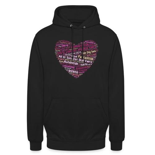 Hjerte - Hættetrøje unisex