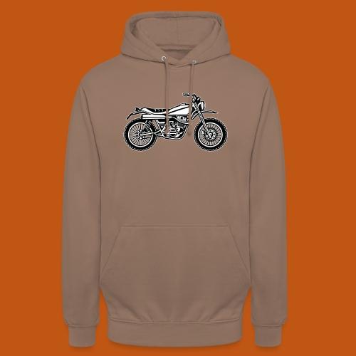 Motocross Enduro Motorrad 01_schwarz weiß - Unisex Hoodie