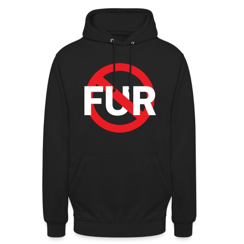 Fuck fur! White - Luvtröja unisex