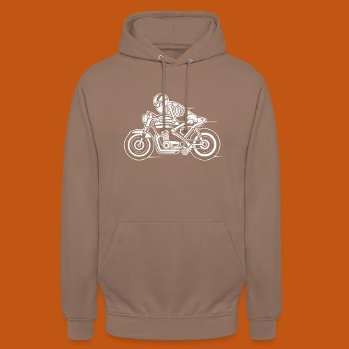 Cafe Racer Motorrad 05_weiß - Unisex Hoodie