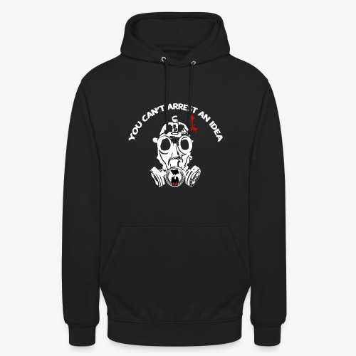 anonymous gazmask white - Unisex Hoodie