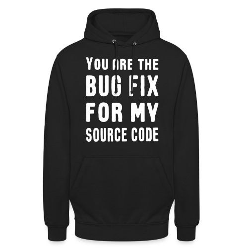 Programmierer Beziehung Liebe Source Code Spruch - Unisex Hoodie