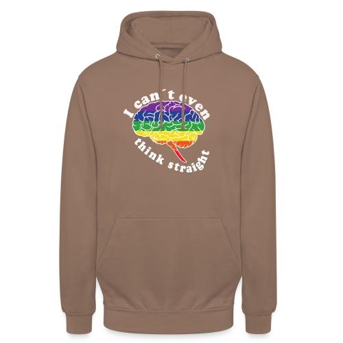 Ich kann nicht einmal klar denken | LGBT - Unisex Hoodie