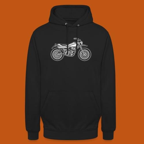 Motocross Enduro Motorrad 01_weiß - Unisex Hoodie