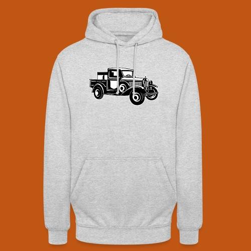 Pickup Oldtimer Truck 01_schwarz weiß - Unisex Hoodie