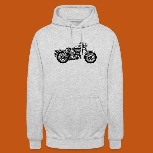 Motorrad / Classic Motorcycle 04_schwarz weiß - Unisex Hoodie