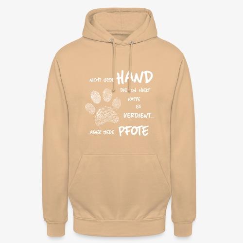 Hand Pfote Hund - Unisex Hoodie