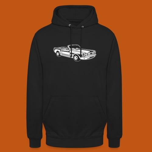 Cabrio / Muscle Car 02_weiß - Unisex Hoodie