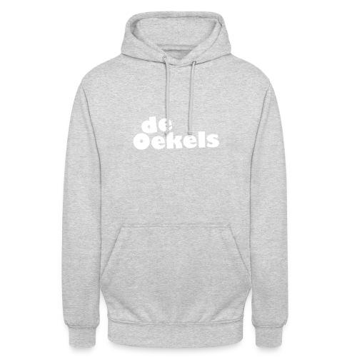 DeOekels t-shirt Logo wit - Hoodie unisex