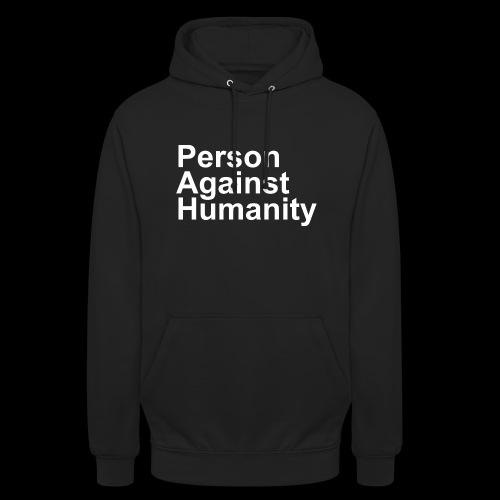 PERSON AGAINST HUMANITY BLACK - Unisex Hoodie