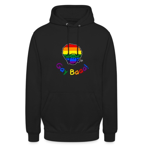Gay Baaa! Pride Sheep (texte arc-en-ciel édition noire) - Sweat-shirt à capuche unisexe