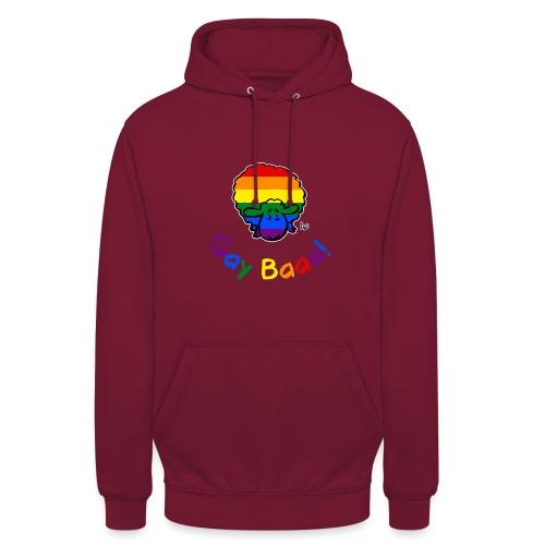 Homosexuell Baaa! Pride Sheep (schwarze Ausgabe Regenbogentext) - Unisex Hoodie