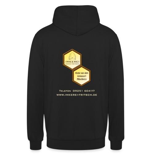 Shirt Imkerei Fritsch, 2 Waben hinten, vorne Logo - Unisex Hoodie