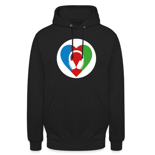 Silent Disco Love | white circle - Unisex Hoodie