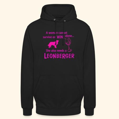 Wine&Leonberger - Luvtröja unisex