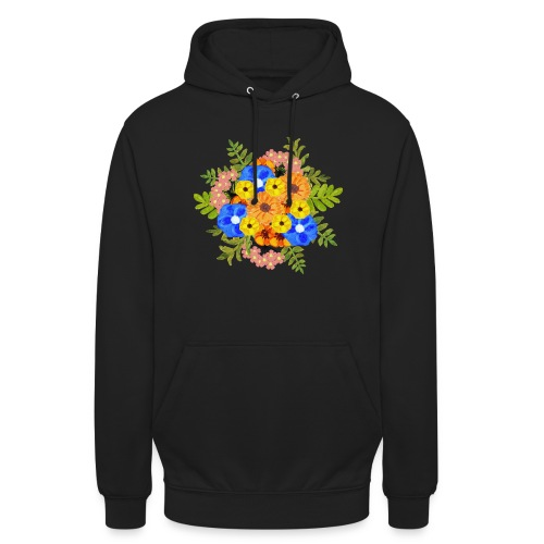 Blue Flower Arragement - Unisex Hoodie