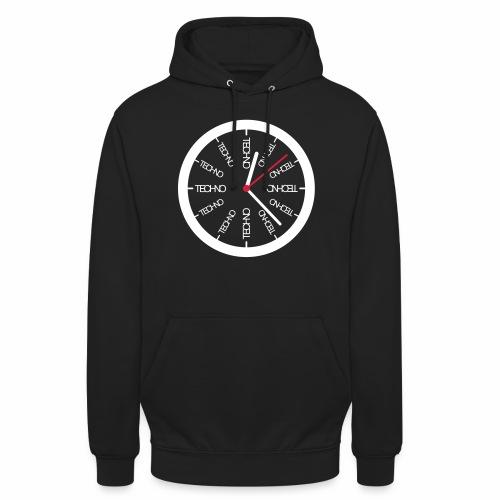 Techno Uhr Clock Rave All Day Clubbing DJ Watch - Unisex Hoodie
