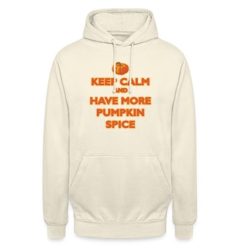 KeepCalmPumpkinSpice - Felpa con cappuccio unisex