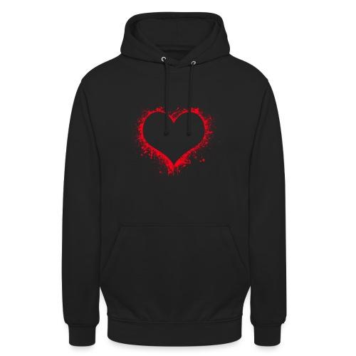 heart 2402086 - Felpa con cappuccio unisex