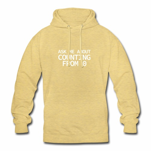 Counting From 0 - Programmer's Tee - Unisex Hoodie