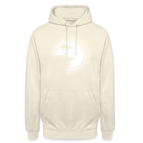 La pleine lune - Sweat-shirt à capuche unisexe