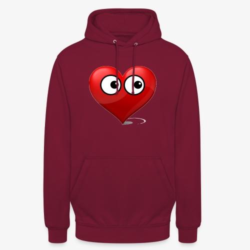 cœur avec yeux - Sweat-shirt à capuche unisexe