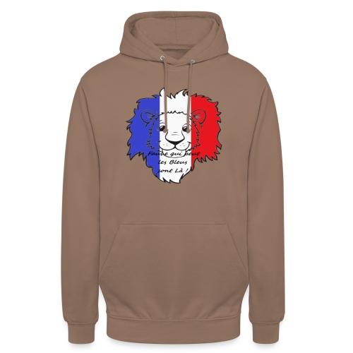 Lion supporter France - Sweat-shirt à capuche unisexe