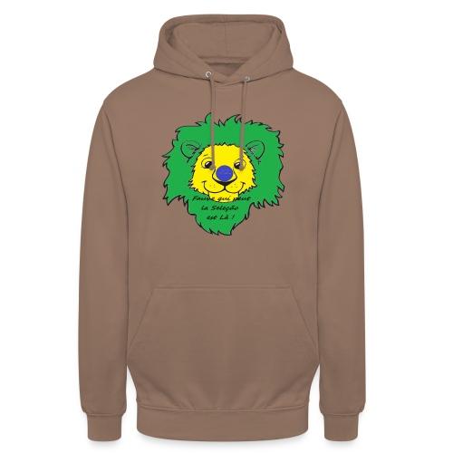 Lion supporter Brésil - Sweat-shirt à capuche unisexe
