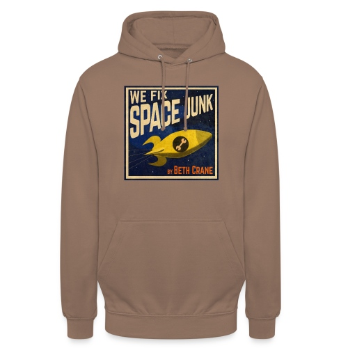 We Fix Space Junk logo (square) - Unisex Hoodie