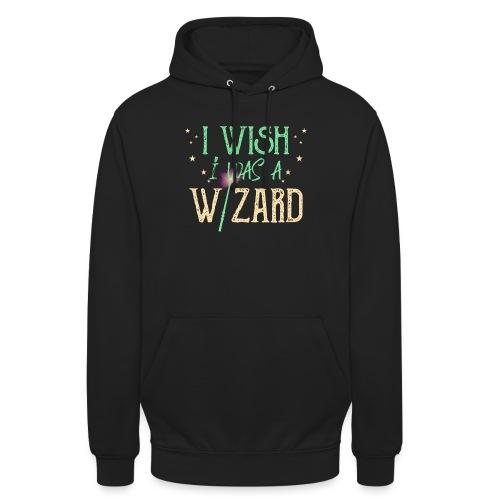 I Wish I Was A Wizard - Green - Unisex Hoodie