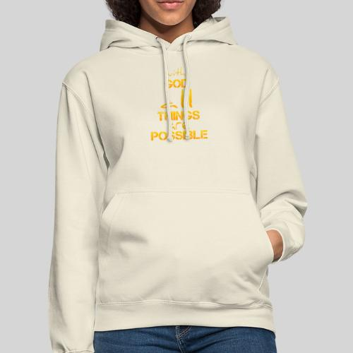 with God all things are possible - Matthäus 19,26 - Unisex Hoodie
