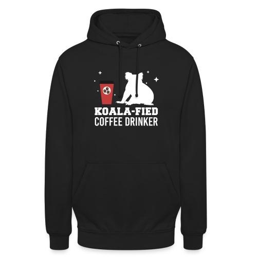 Koala-fied Coffee Drinker Funny Fan Lover Gift - Unisex Hoodie