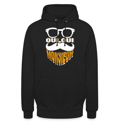 Oui Oui Monsieur Mustache Graphic French - Unisex Hoodie