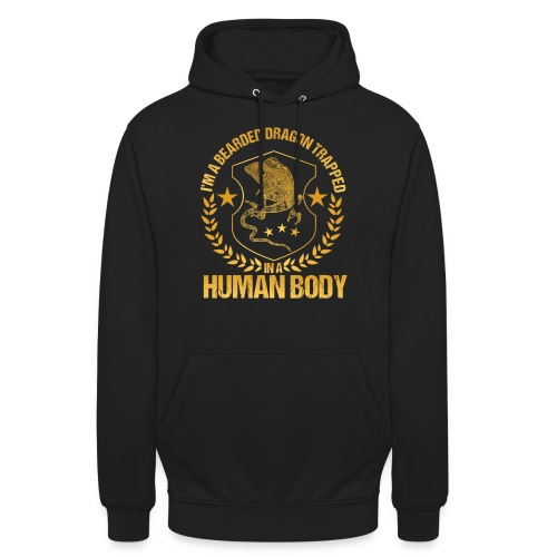 Bearded Dragon Trapped In A Human Body - Unisex Hoodie