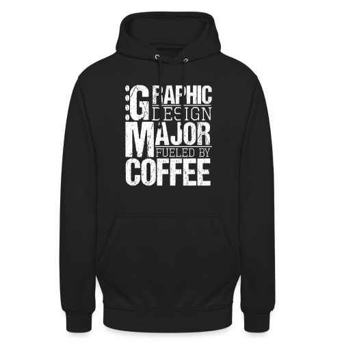 Graphic Design Major Fueled By Coffee - Unisex Hoodie