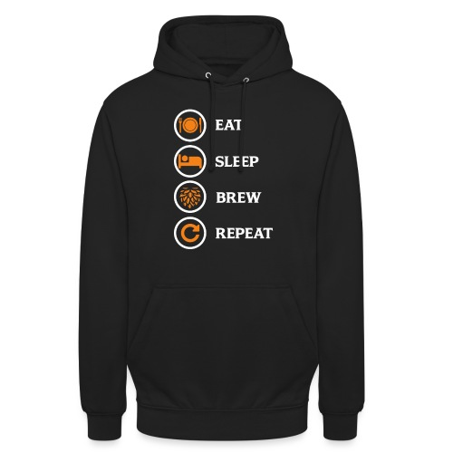 Eat Sleep Brew Repeat Brewers Gift - Unisex Hoodie