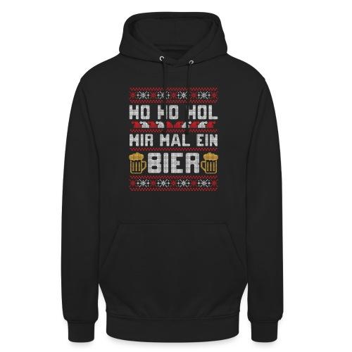 Ho Ho Hol mir mal ein Bier | lustiger Gerstensaft - Unisex Hoodie