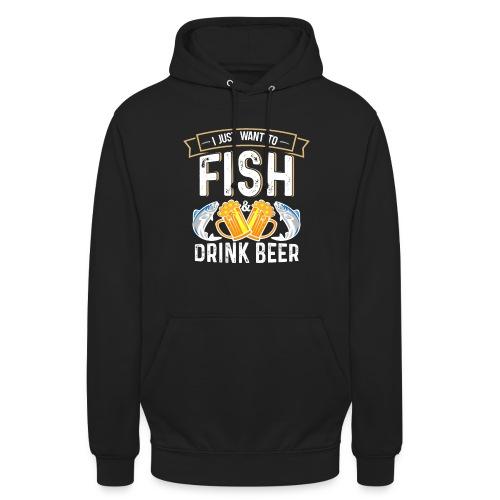 Ich möchte nur Bier trinken. Perfekte Design - Unisex Hoodie
