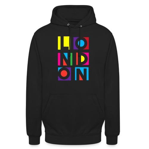 Vintage London Souvenir - Retro Modern Art London - Unisex Hoodie
