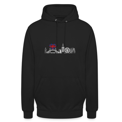 Cooles London Souvenir - Skyline mit Herz London - Unisex Hoodie