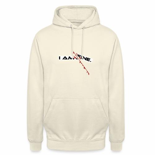 I AM FINE Design mit Schnitt, Depression, Cut - Unisex Hoodie